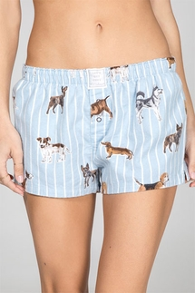 PJ Salvage Doggone Tired Flannel Short