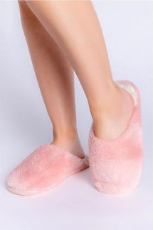 PJ Salvage Dusty Rose Cozy Slippers