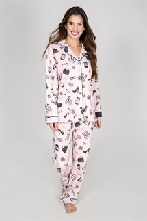 PJ Salvage #GIRLBOSS Flannel Pajama Set