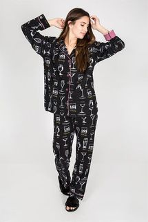 PJ Salvage Great Minds Drink Alike Flannel Pajama Set