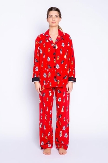 PJ Salvage Happy Howlidays Flannel Pajama Set