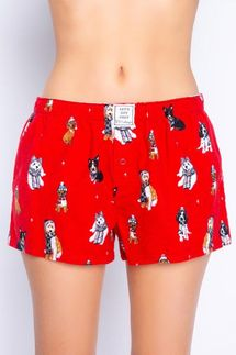 PJ Salvage Happy Howlidays Flannel Short