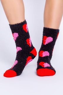 PJ Salvage Heart Slate Socks