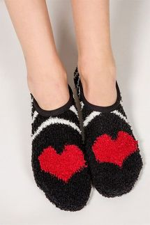 PJ Salvage Heart Slipper Socks