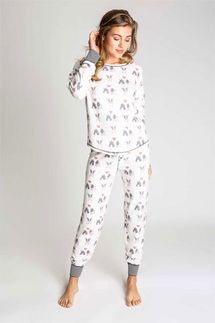 PJ Salvage I Woof You Long Sleeve and Pant Pajama Set