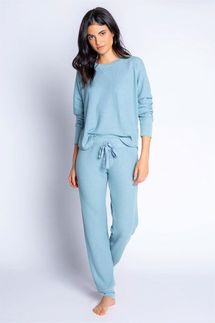 PJ Salvage Ice Blue Ski Jammie Set