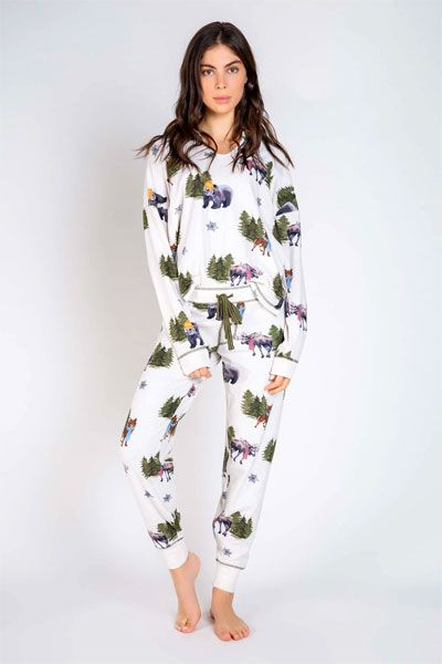 PJ Salvage Into The Wild Long Sleeve and Banded Pant Pajama Set