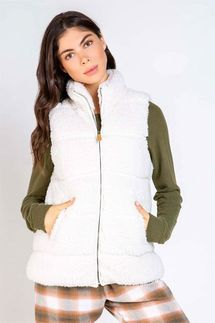 PJ Salvage Ivory Cozy Cuddlers Vest
