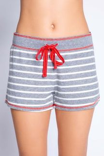 PJ Salvage Joyful Spirit Grey Striped Short