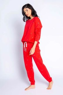 PJ Salvage Joyful Spirit Red Long Sleeve and Banded Pant Set