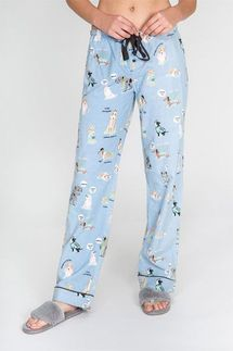 PJ Salvage Kiss Me I'm Chewish Flannel Pant