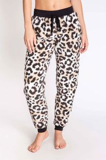 PJ Salvage Leopard Cozy Banded Pant
