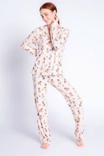 PJ Salvage Love Dog Pajama Set with Eye Mask
