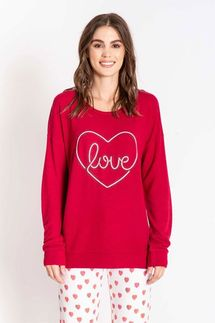 PJ Salvage Love Raspberry Long Sleeve