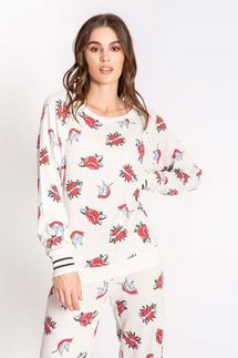 PJ Salvage Lovegram Long Sleeve Top