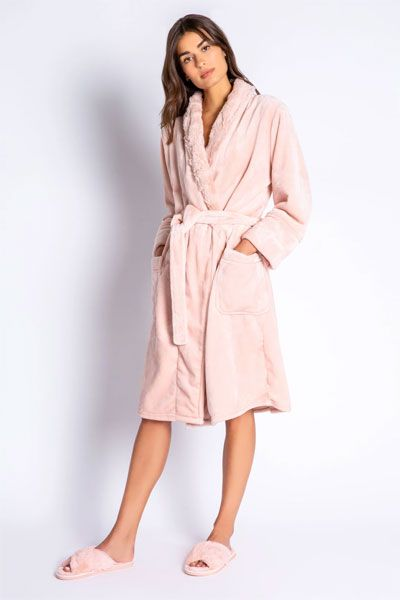 PJ Salvage Luxe Plush Blush Robe