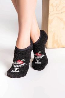 PJ Salvage Martini Slipper Socks