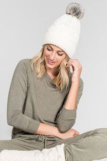 PJ Salvage Natural Cable Collection Beanie