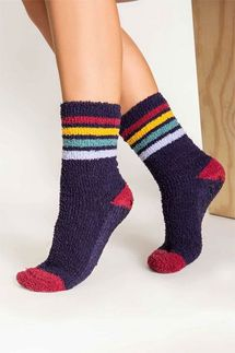 PJ Salvage Navy Stripe Socks