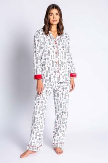 PJ Salvage New York Flannel Pajama Set