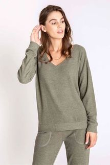 PJ Salvage Olive Long Sleeve and Banded Pant Set