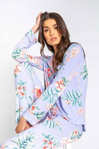 PJ Salvage Paradise Pajama Set w/ Eye Mask