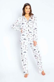 PJ Salvage Pawjamas All Day Pajama Set w/ Eye Mask