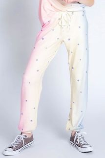 PJ Salvage Peachy Party Star Banded Pant
