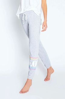 PJ Salvage Rainbow Lounge Love Banded Pant
