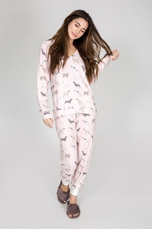 PJ Salvage Raining Dogs Pajama Set