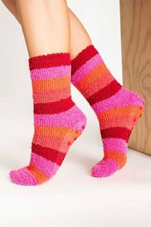 PJ Salvage Raspberry Striped Socks