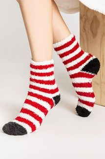 PJ Salvage Red Stripe Socks