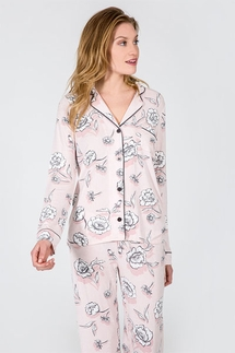 PJ Salvage Shadow Stripe Pajama Set