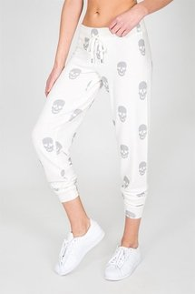 PJ Salvage Simple Skull Banded Pant