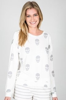 PJ Salvage Simple Skull Long Sleeve Top