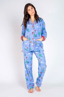 PJ Salvage Ski Adventure Flannel Pajama Set