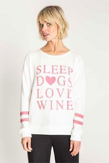 PJ Salvage Sleep Dogs Love Wine Long Sleeve