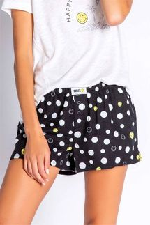 PJ Salvage Smiley Face Flannel Short
