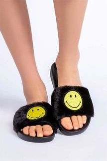 PJ Salvage Smiley Slider Slippers