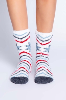 PJ Salvage Snowflake Stripe Socks