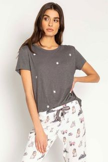 PJ Salvage Star Gray Shirt
