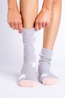 PJ Salvage Star Grey Socks