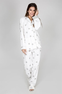 PJ Salvage Starry Eyed Flannel Pajama Set