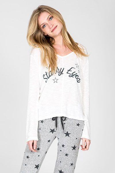 PJ Salvage Starry Eyed Long Sleeve Top