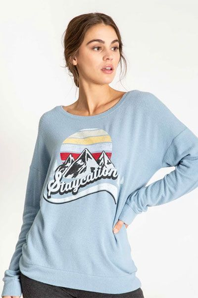 PJ Salvage Staycation Long Sleeve Top