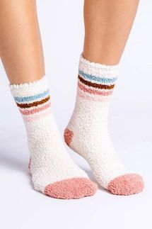 PJ Salvage Stripe Oatmeal Socks