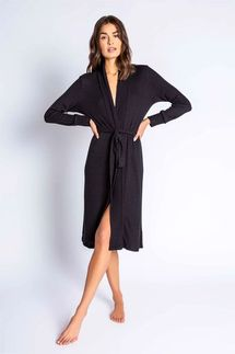 PJ Salvage Textured Basics Black Robe