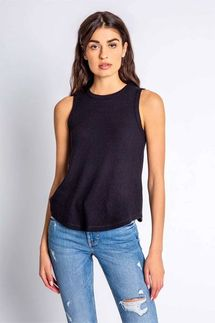 PJ Salvage Textured Basics Black Tank