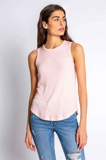PJ Salvage Textured Basics Blush Tank