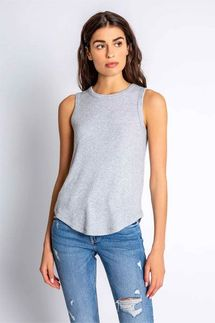 PJ Salvage Textured Basics Grey Tank